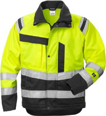 Fristads Ladies High Vis Jacket 4129 CL 3 PLU (Hi Vis Yellow/Black)